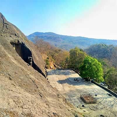 Kanheri caves black mountain