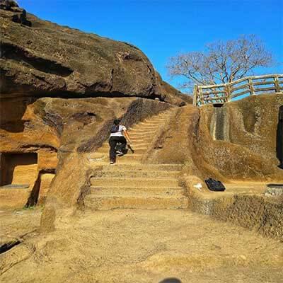 Kanheri caves sculptures stone