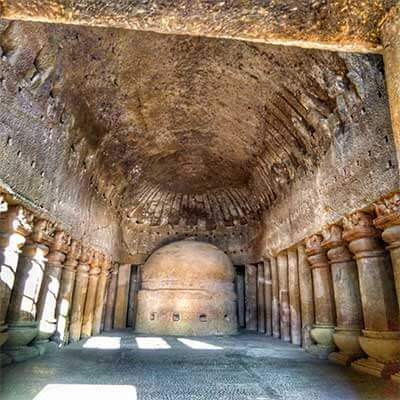 Kanheri caves sculptures