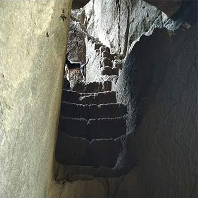 Kothaligad fort steps