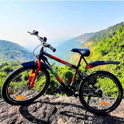 cycle at top of hills