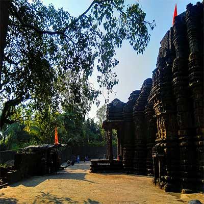 Ambernath-Shiv-temple all around trees